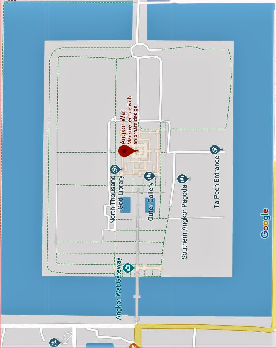1-Angkor Wat Temple Map