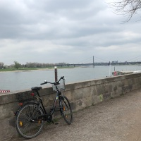 Dusseldorf: a wealthy and delightful city straddling the Rhine River - April 2019 - West Germany