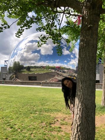 Paris - Jenny Rojas Apr19 - Jennyskyisthelimit (135) - La Géode Geodesic dome