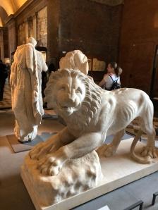 Paris - Jenny Rojas Apr19 - Jennyskyisthelimit - The Louvre Museum (40) Lion Funeraire