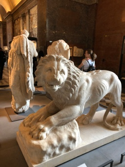 Paris - Jenny Rojas Apr19 - Jennyskyisthelimit - The Louvre Museum (40) Lion Funeraire