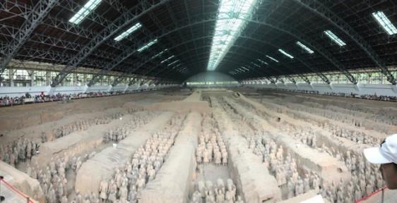 3 - Xian -Pit 1 Terracota Army - 230 metres long and 62 metres wide