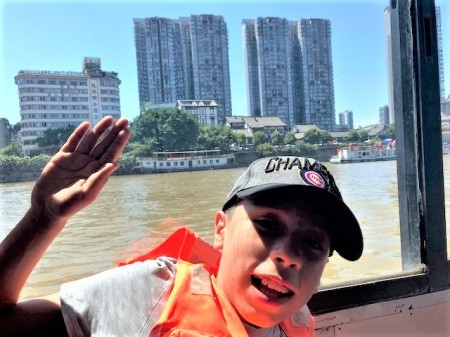 China Day 7 - Boat Ride Leshan Giant Budda
