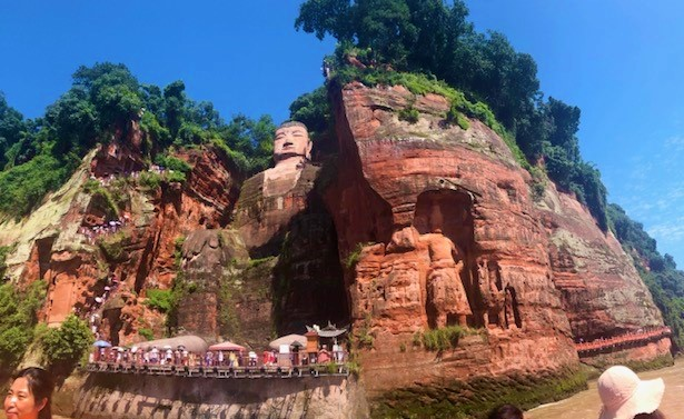 China Day 7 -Leshan Giant Budda - over 70 metres high and 9 metres wide!