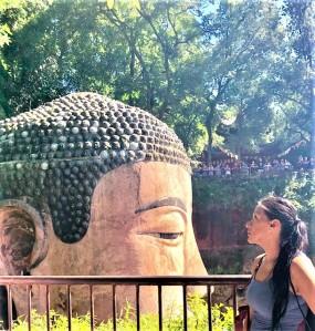 China Day 7 -Leshan Giant Budda - Stunning! Jenny Rojas JennySkyIsTheLimit