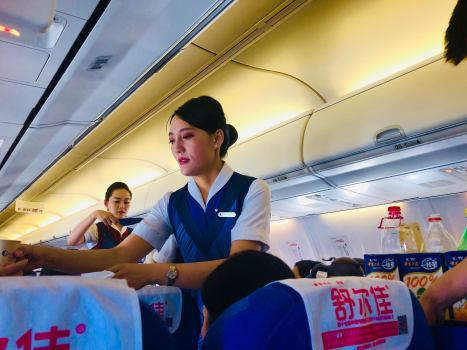 Shandong Airlines Boeing 787-800 - From Chengdu to Guilin Flight (1)