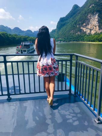 Stunning Cruise Mopanshan Pier to Yangshuo - Top Deck - Mum & Son by Jenny Rojas (2)