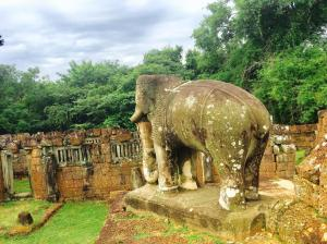 13- Angkor Complex - East Mebon by Jenny Rojas - Carved Elephants