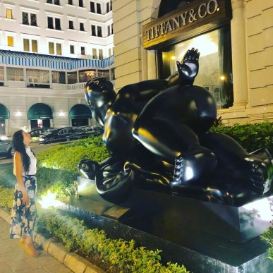 9 - Hong Kong Experience - Fernando Botero Sculpture Reclining Woman - Aug 2019 - by Jenny Rojas