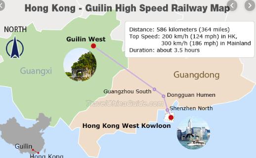 Bullet - High Speed Railway - Guilin to Hong Kong