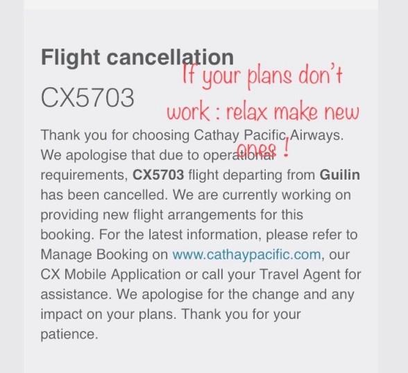 Last Minute Cancellation..