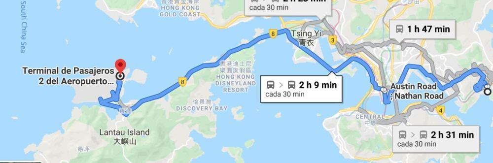 From Tseung Kwan to Hong Kong Airport Bus Service Aug 2019 - by Jenny Rojas